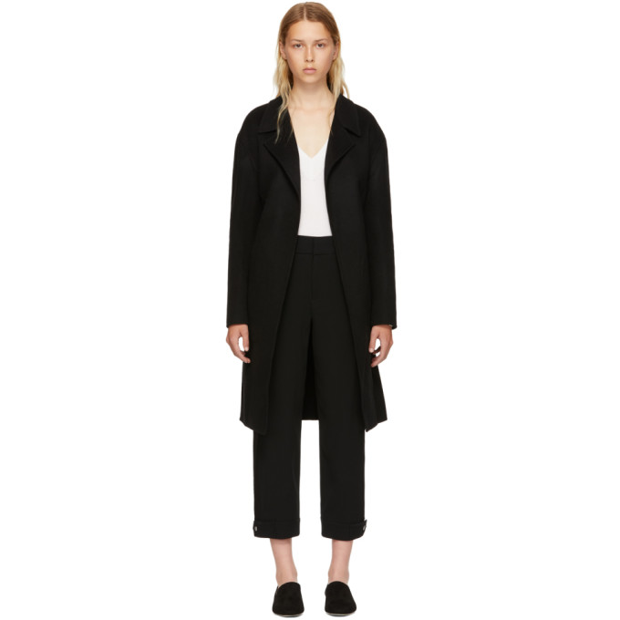Rag & Bone Black Wool Sven Coat