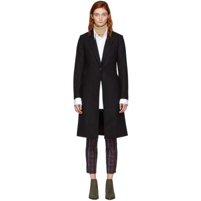 Diane Wool-Blend Overcoat - Black Size 10 in 001 Black