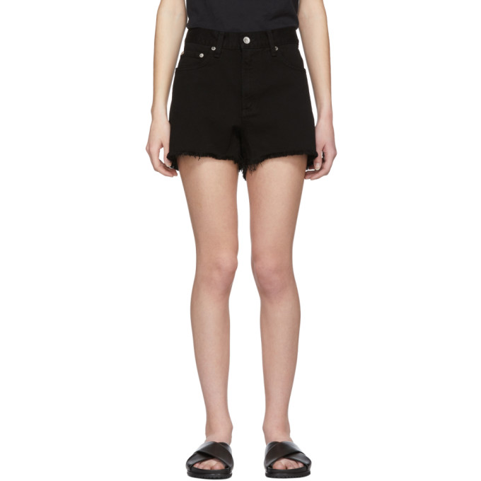 Rag & Bone Black Denim Justine Shorts