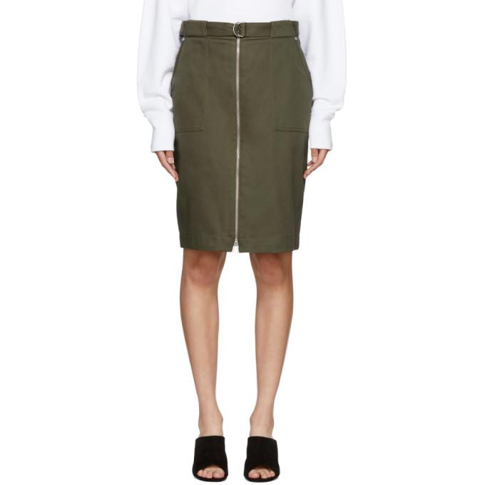 Rag And Bone Green Lora Skirt, Dark Olive