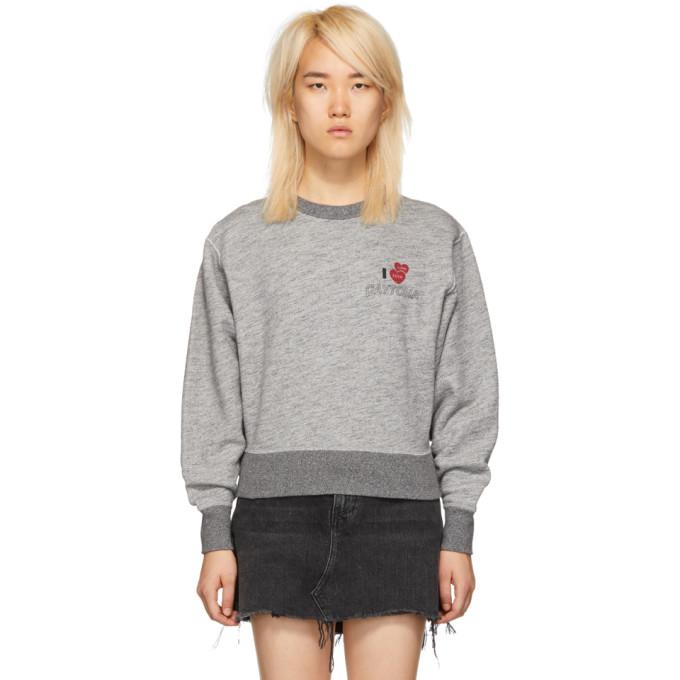 """Daytona"" Cotton Terry Sweatshirt - Gray Size S in Grey"
