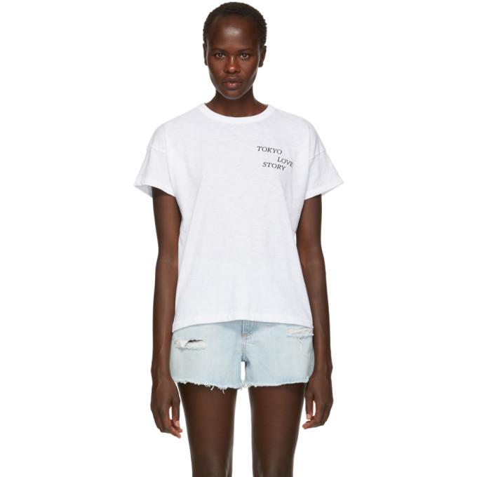 Rag & Bone White Tokyo Love Story Vintage T-Shirt