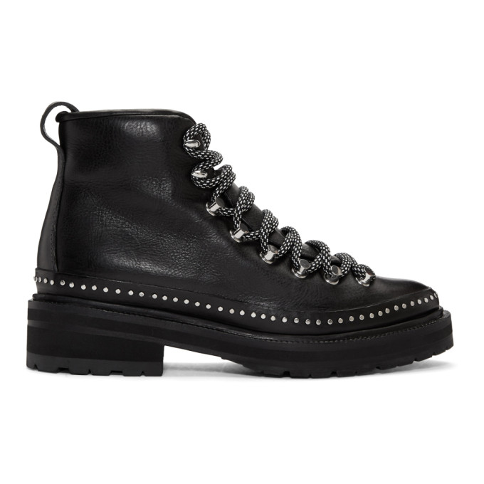rag and bone Black Compass II Shearling Boots