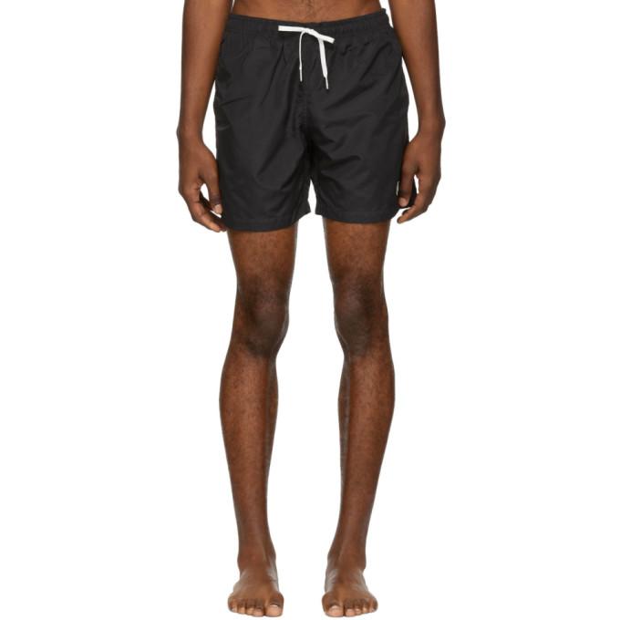 BATHER Bather Black Solid Swim Shorts