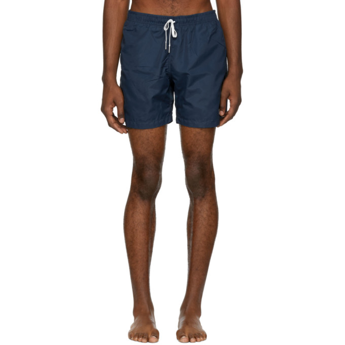BATHER Bather Navy Solid Swim Shorts