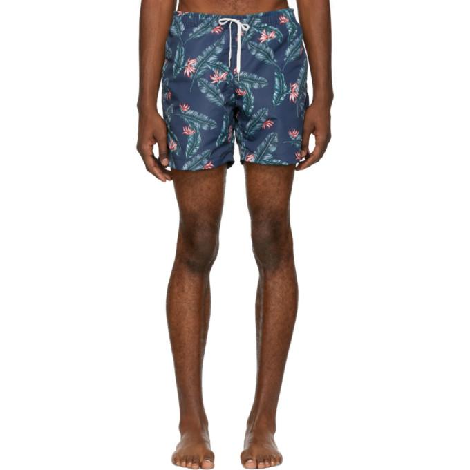 BATHER Bather Navy Birds Of Paradise Swim Shorts