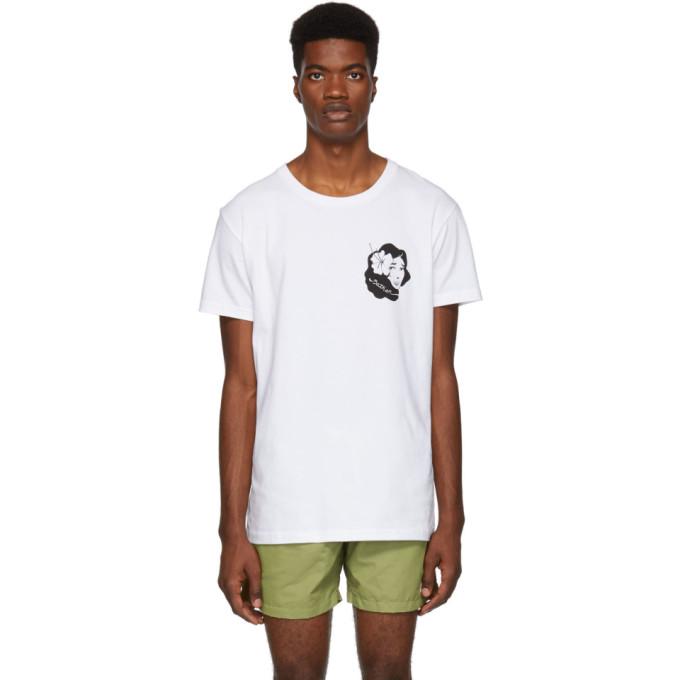 BATHER Bather White Hula Girl T-Shirt