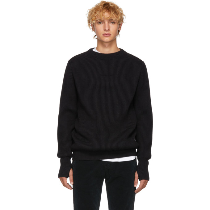 REMI RELIEF Remi Relief Black Wool Sweater