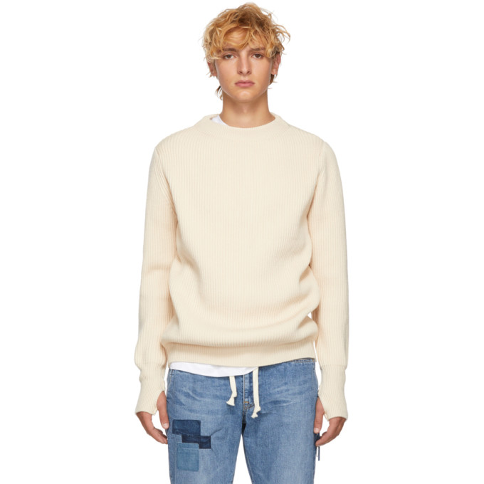 REMI RELIEF Remi Relief Off-White Wool Sweater in Off White