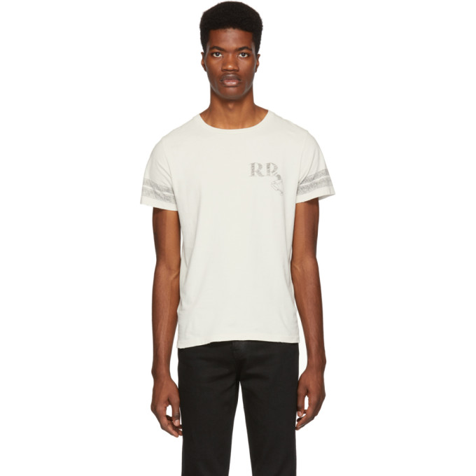 REMI RELIEF Off-White 'Rr' Sp Finish T-Shirt in Off White