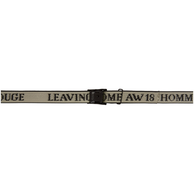 LHOMME ROUGE Lhomme Rouge Black And White Leaving Home Strap Belt in Almond/Blac