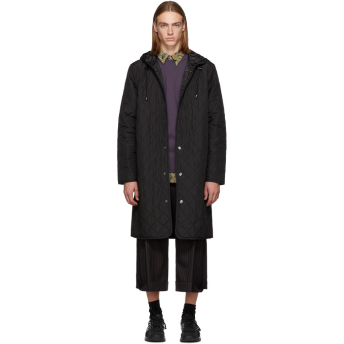 L'HOMME ROUGE Lhomme Rouge Black Loop Hood Jacket in Black 2