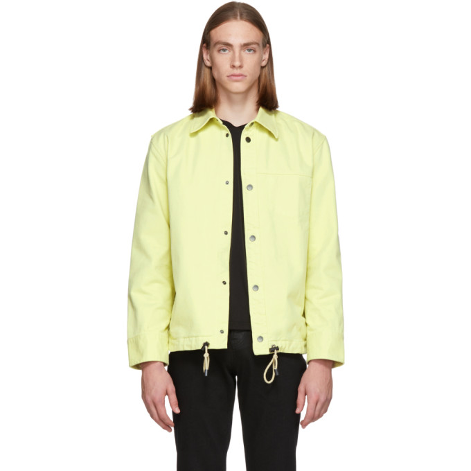 L'HOMME ROUGE Lhomme Rouge Yellow Pull Jacket in Dusty Yello