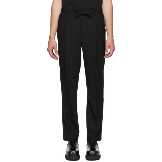 LHOMME ROUGE Lhomme Rouge Black Comfort Trousers