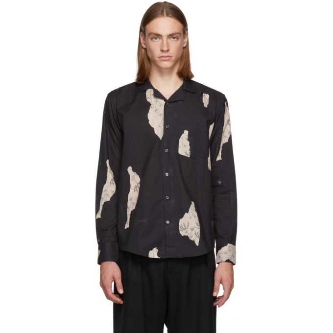L'HOMME ROUGE Lhomme Rouge Black Wallpaper Shirt in Wallpaper D