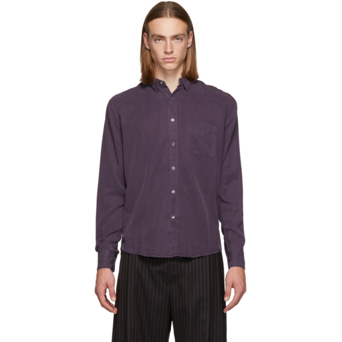 LHOMME ROUGE Lhomme Rouge Purple Original Shirt in Nightshade