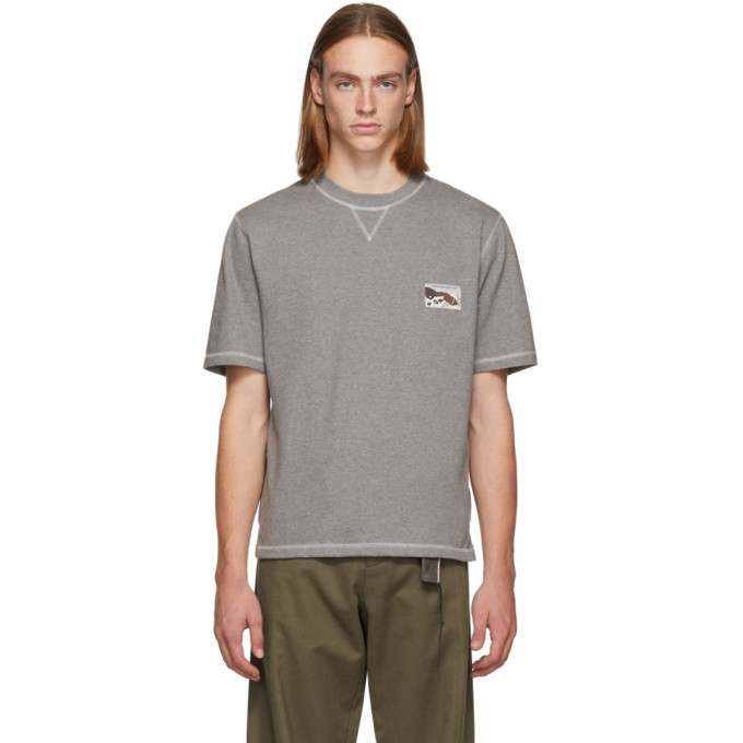 L'HOMME ROUGE Lhomme Rouge Grey Climber T-Shirt in Grey Melang
