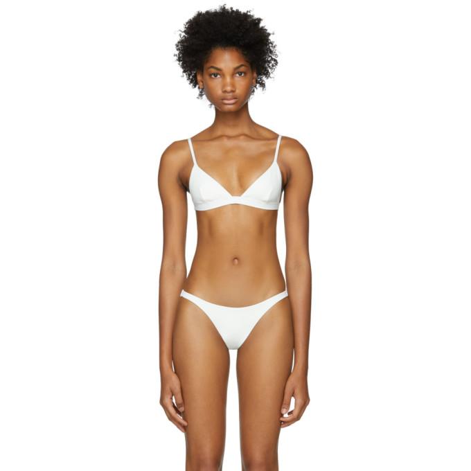 Her Line Haut de bikini blanc Ava