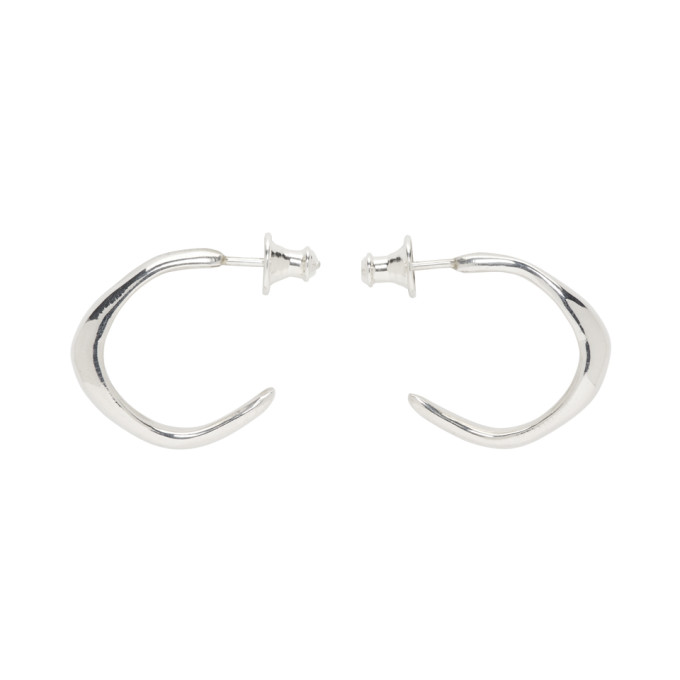 ef8f8ca75 Faris Silver Small Vero Hoop Earrings