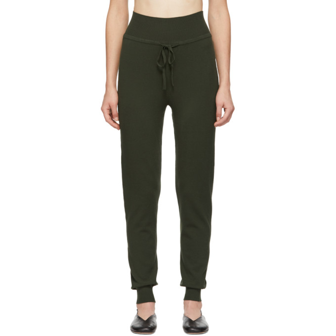 LIVE THE PROCESS Live The Process Green Knit High Waist Lounge Pants in M6 Duffelba