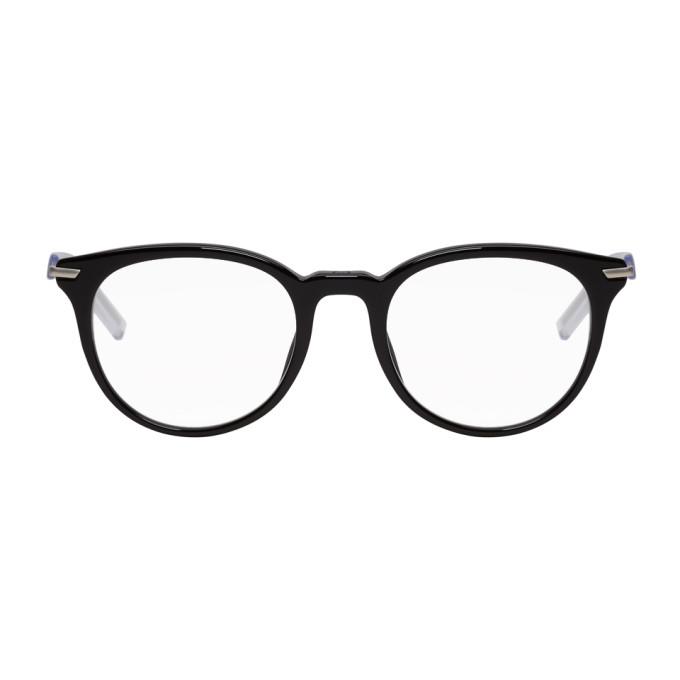 Image of Dior Homme Black 'Black Tie 201' Glasses