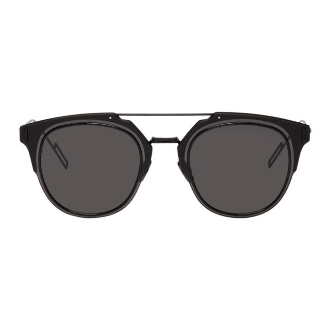 Image of Dior Homme Black 'Dior Composit 1.0' Sunglasses