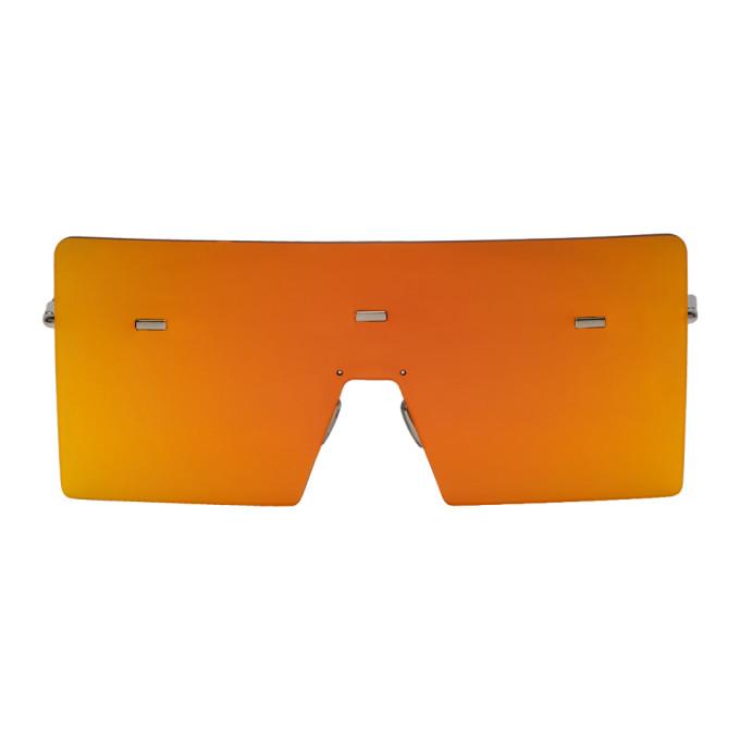 Image of Dior Homme Orange Hardior 610T Shield Sunglasses