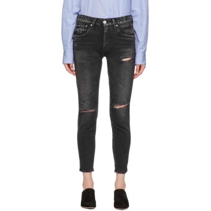Moussy Vintage Black Comfort Fillmore Skinny Jeans