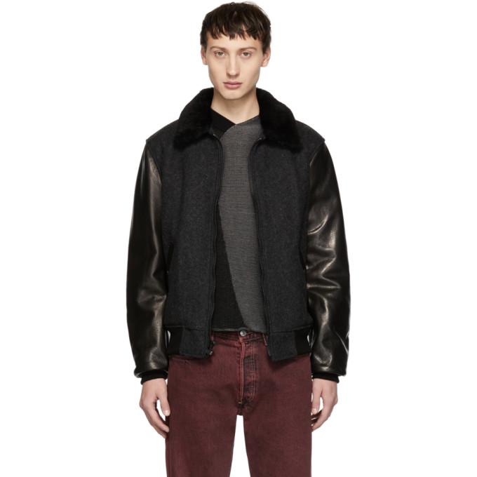 Image of Schott Black & Grey B-15 Jacket