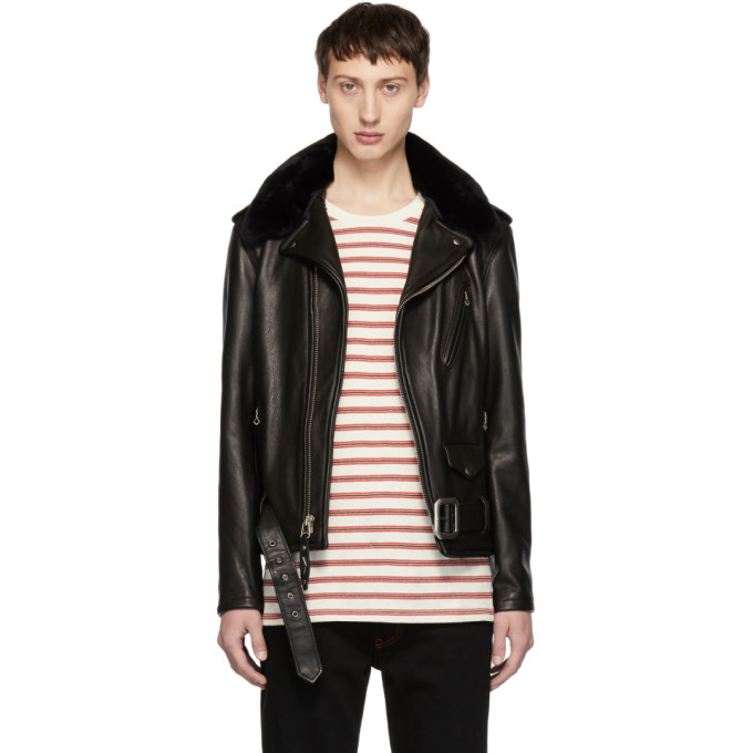 Image of Schott Black Leather Limited Edition 90th Anniversary Perfecto Jacket