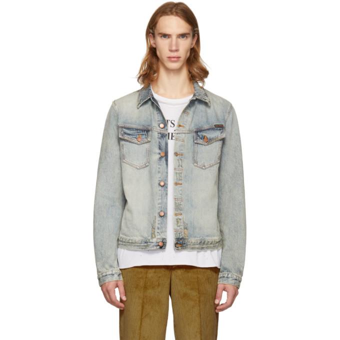 Image of Nudie Jeans Blue Denim Kenny Salvatore Replica Jacket