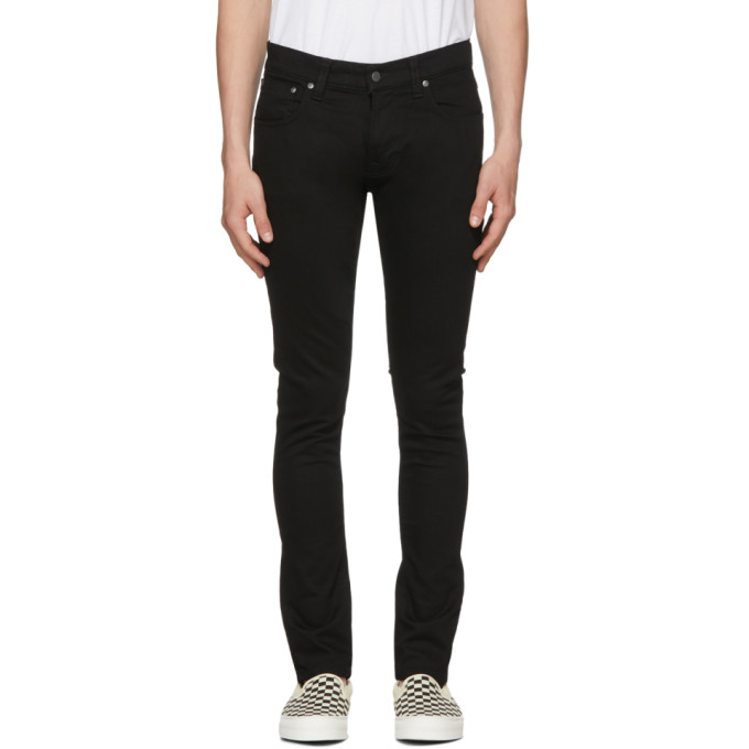 Image of Nudie Jeans Black Tight Terry Jeans