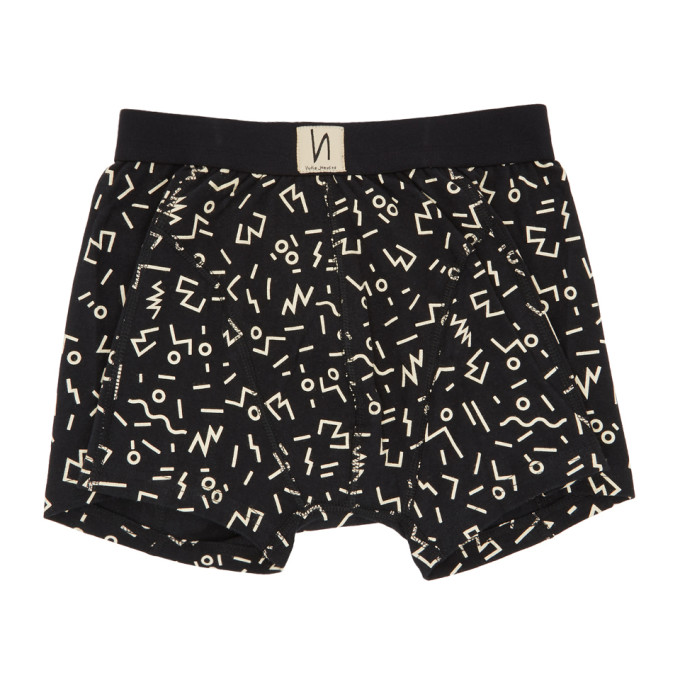 Image of Nudie Jeans Black Doodles Boxer Briefs