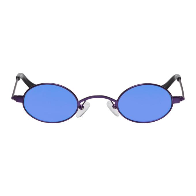 52630bc944285 Roberi and Fraud Purple Doris Sunglasses