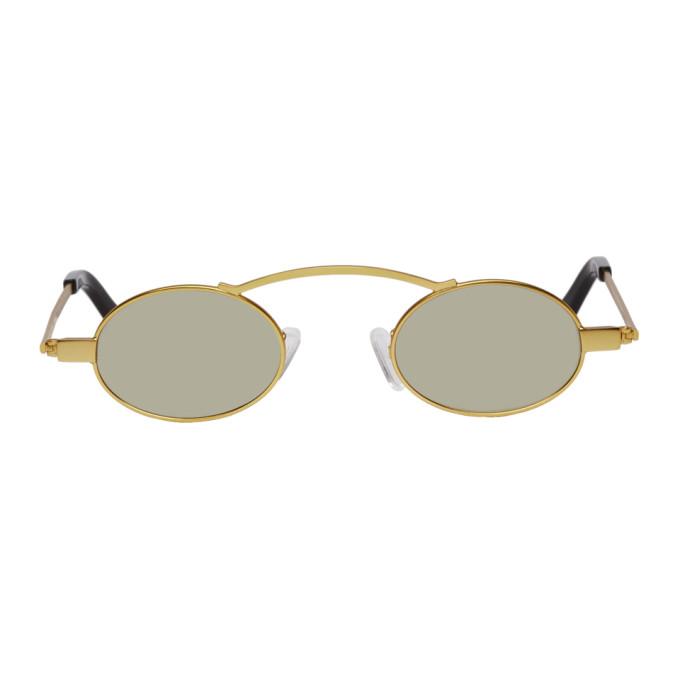 595a00f1fca0e Roberi and Fraud Gold Doris 20 Sunglasses