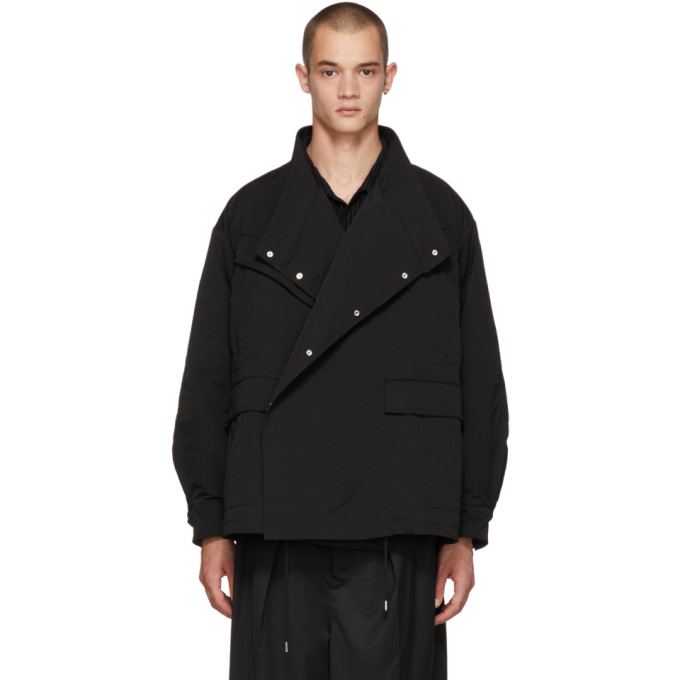 Image of ALMOSTBLACK Black Asymmetric Jacket