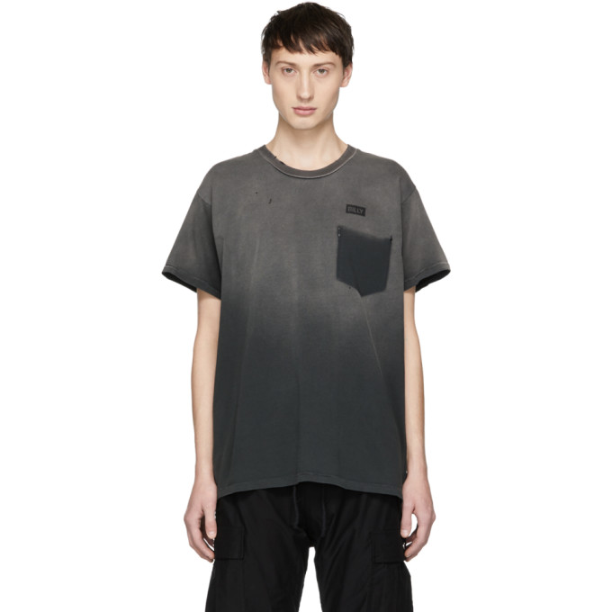 BILLY Billy Black Logo Marshall T-Shirt in Black Rust