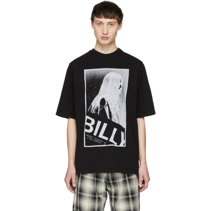BILLY Billy Black Oversized Graphic T-Shirt