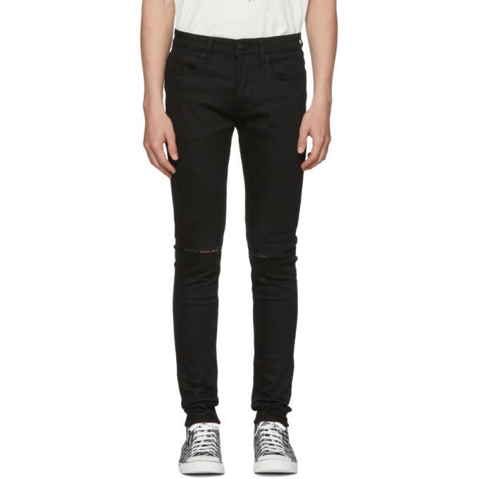 Image of Ksubi Black Van Winkle Slice Jeans