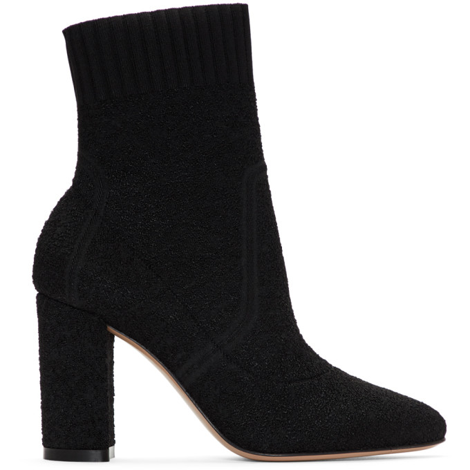 Gianvito Rossi Black Boucl� Ankle Boots