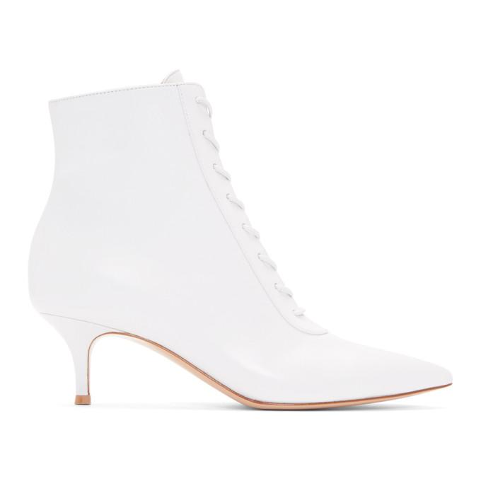 Gianvito Rossi White Lace Boots