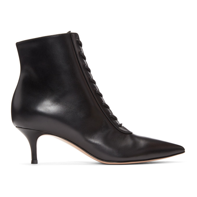 Gianvito Rossi Black Lace Boots