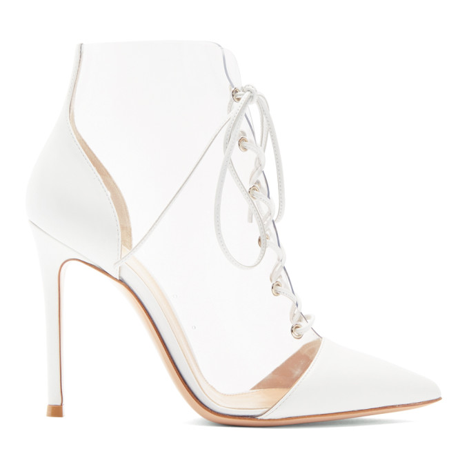 Gianvito Rossi White PVC & Leather Boots