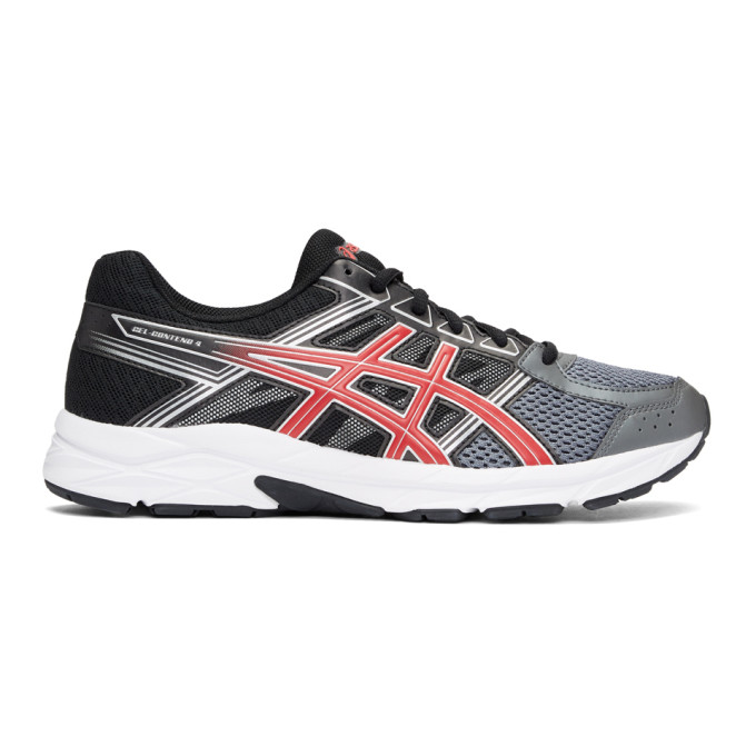 Asics Black & Red Gel-Contend 4 Sneakers