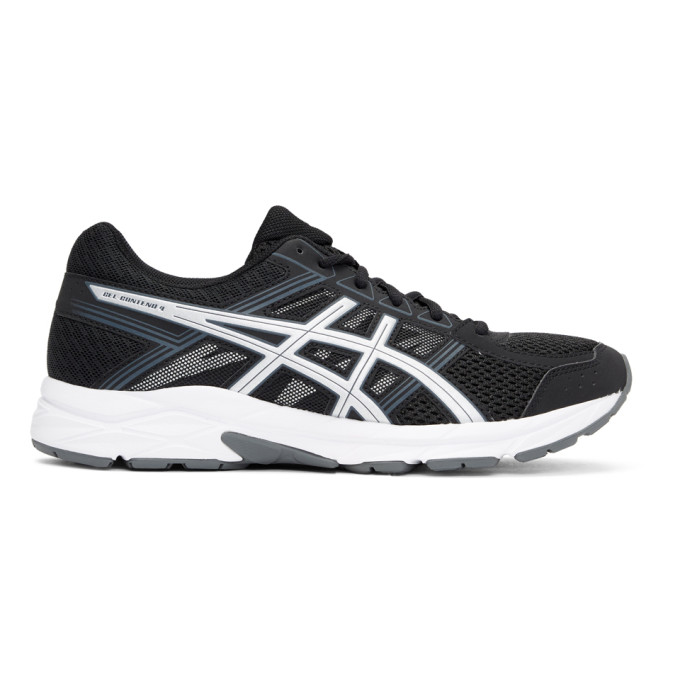 Asics Black & Silver Gel-Contend 4 Sneakers