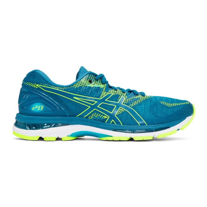 Asics Blue & Green Gel-Nimbus 20 Sneakers