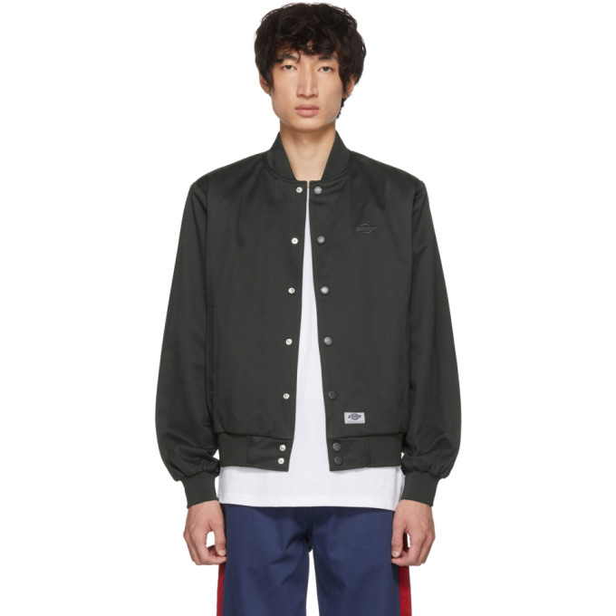 Image of Dickies Construct Black Academy Bomber Jacket