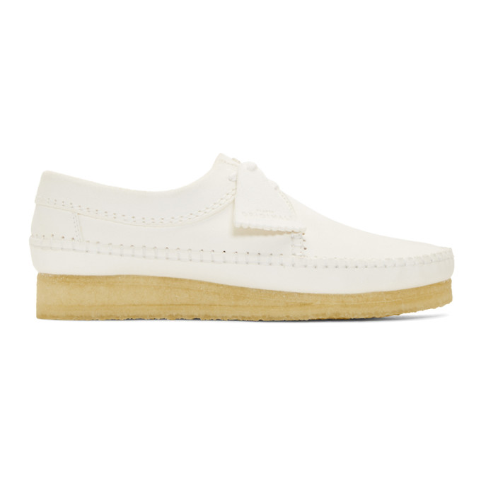 Clarks Originals White Weaver Moccassins