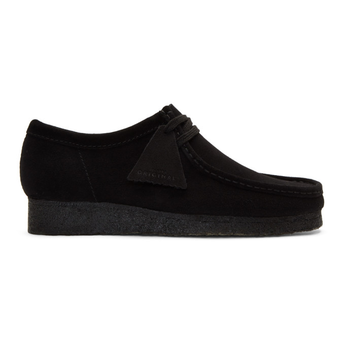 Clarks Originals Black Suede Low Wallabee Moccasins