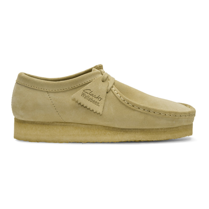 Clarks Originals Beige Low Suede Wallabee Moccasins